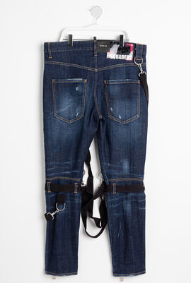 Zipped Military Jeans