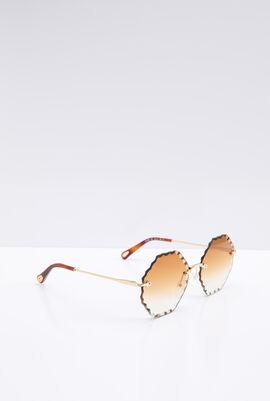 Rimless Octagon Women's Sunglasses