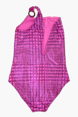 Crocros Shiny One-piece Swimsuit