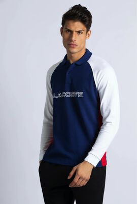 Regular Fit Colourblock Long Sleeve Polo Shirt
