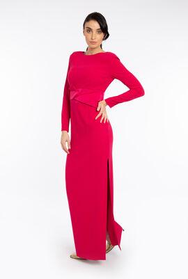Satin Bow Waist Dress