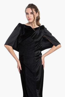 Cape Sleeves Evening Dress