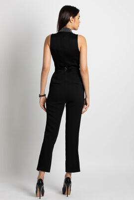 Studded Lapel Jumpsuit