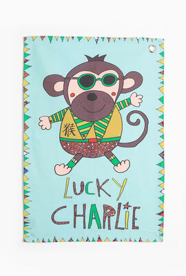 Lucky Charlie Canvas Tea Towel