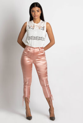 Elastic laced Trousers