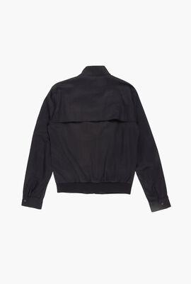 Zip Cotton Twill Jacket