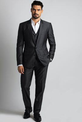 Martini Double Buttoned Suit with Vest