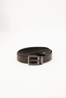 Lacoste Engraved Tongue Buckle Reversible Leather Belt