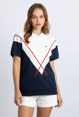 Jacquard Patterned Cotton Polo Shirt