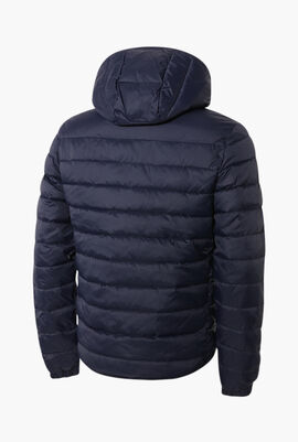 Lacoste SPORT Hooded Water-Resistant Quilted Jacket