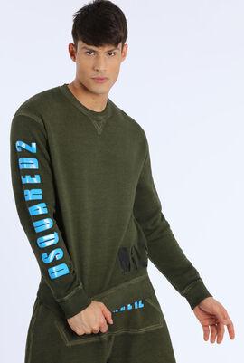 Embossed Rubber Design Sweatshirt