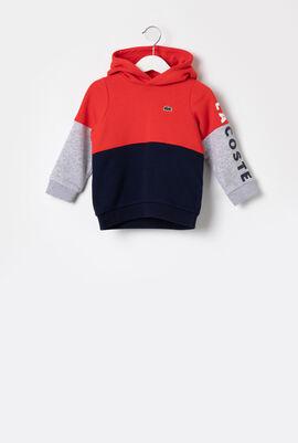 Logo Color Block Hooded Sweatshirt