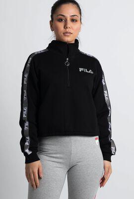 Half Zip Cropped Active Top