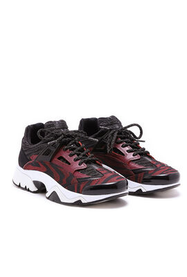 Sonic Jacquard Chunky Trainers - Bordeaux