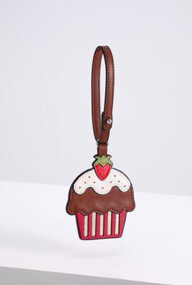 Strawberry Cupcake Leather Charm