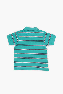 Striped Cotton Mini Piqué Polo Shirt