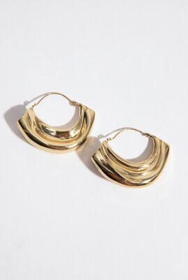 Arturo Textured Hoops Earrings