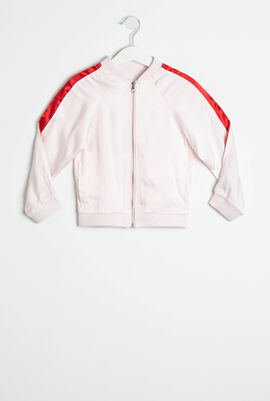 Striped Sleeves Bomber Jacket