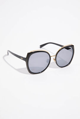 Oversized Mirror Sunglasses