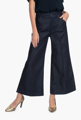Tailored Denim Culottes