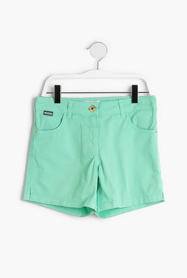 Embroidered Multicolor Logo Teen Shorts