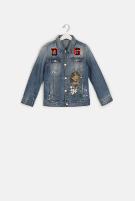 Denim Embroidered Patches Jacket