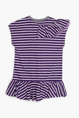 Striped Cotton Jersey Dress