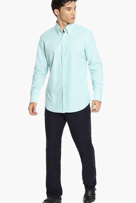 Washed Oxford Bengal Slim Fit Shirt