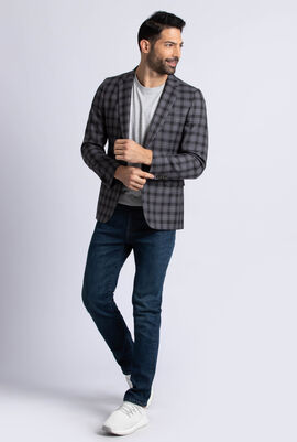 Checked Tailored Fit 2Button Jacket Suit