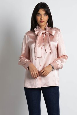 Fringe Bow Blouse