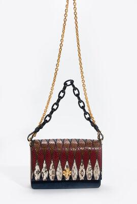 Kira Pieced Exotic Shoulder Bag
