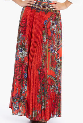Waratah Pleated Full Hem Skirt