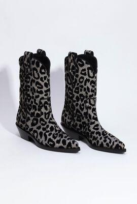 Gaucho Jacquard Leopard Cowboy Boots