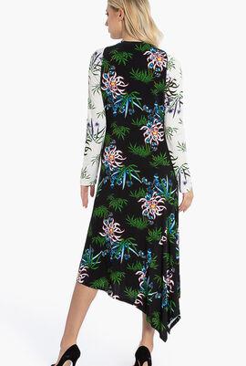 Fluid Asymmetrical All Over Dress