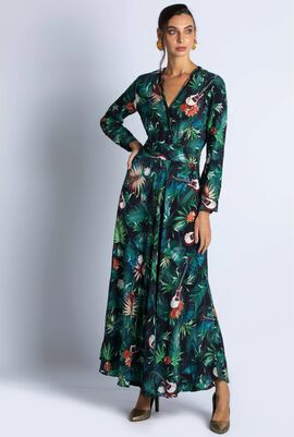 Jungle Printed Long Dress