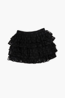 Mesh Ruffled Skirt