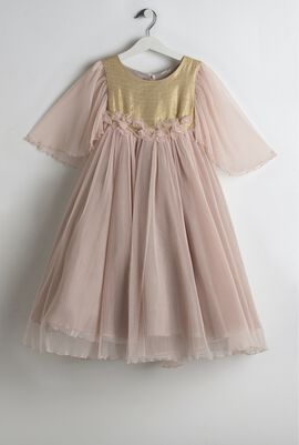 Pink Pleated Tulle Dress