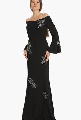 Sequins Embellished Evening Dress