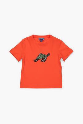 Embroidered Turtle Swim T-Shirt