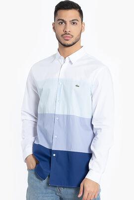 Colourblock Regular Fit Cotton Shirt