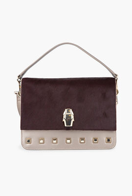 Milano Fur Flap Shoulder Bag