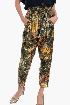 Floral Print Design Loose Fit Pants