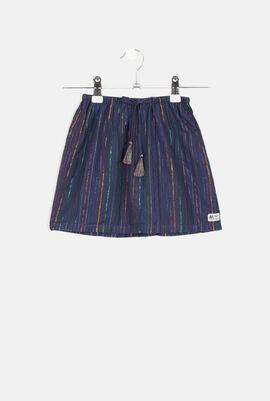 Lurex Stripes Straight Skirt