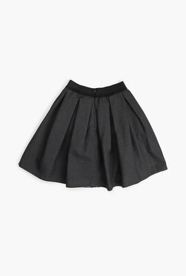 Pleated Flannel Skirt