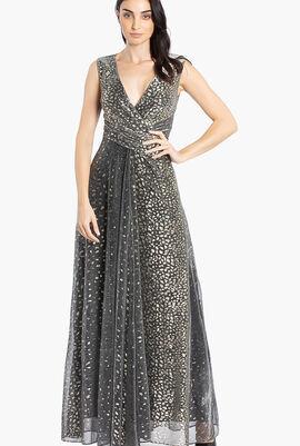 Pokario Sleeveless Long Gown
