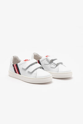 Leather Velcro Strap Sneakers