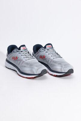 حذاء رياضي فضي/أزرق داكن ذو نسيج شبكي Thunder