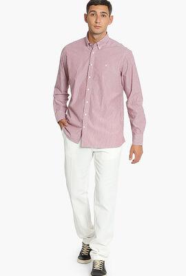 Melange Stripe Brompton Classic Fit Shirt