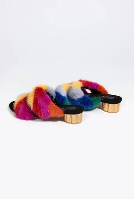 Belluno Fur Slides