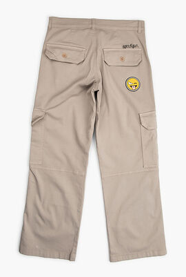 Gabardine Pants with Patch